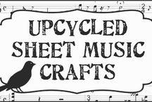 Music Sheet music crafts / by Liz Eggers