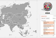 PowerPoint Maps / These are the best editable vector based PowerPoint maps and you can easily change color, dimension of any country, state or any shape in PowerPoint slide. Our library has great collection of continent ppt maps, state ppt maps, country ppt maps, province ppt maps, city ppt maps and many more.