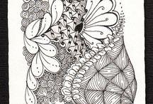 zentangl черно-белый