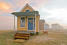 House: Tiny Home Ideas / I like to day-dream about buying a small plot of land in a vacation area, then building a teeny tiny vacation home on it. / by Sarah Garland (Thought on a Roll)