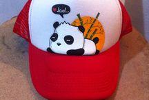 Mis gorras personalizadas / Gorras pintadas a mano