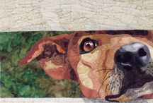 QUILT dog / animal applique / turn photos of pets and people into quilts