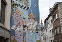 Podróże po Belgii - komiksowe murale