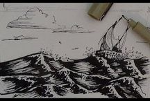Pen & Ink Sketch Tips & Inspiration / Tutorials, Tips and Techniques for drawing and sketching in pen and ink. Inspiration to get your pen out and try some of these techniques. Includes step by step instructions and videos.