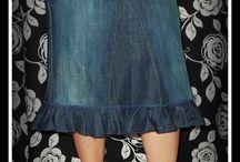 jean into skirt