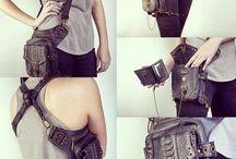Steampunk fashion  / Cool strap bag