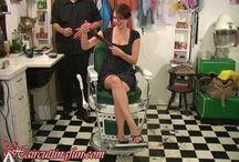 Alison's Boy Haircut / Photos from Alison's Boy Haircut video found at www.haircuttingfun.com