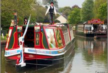 narrow boat and boat house / by Kellie Smith