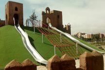 Ciudad de los niños, Almeria,. / Tematización del Parque de Almeria , la Ciudad de los niños