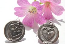 Wildlife jewellery / Silver jewellery inspired by woodland wildlife - owls, foxes, hedgehogs. All handmade in fine silver by Little Silver Hedgehog.