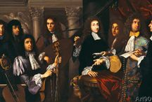1600-1700s musicians and instruments in art