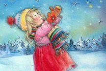 Karácsony és képeslapok