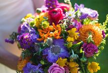 Colourful wildflower wedding Dalhousie Castle