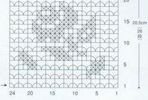 Filetová krajka / Vzory pro filetové krajky
