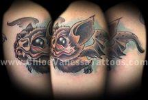bat tattoos  ^ V ^