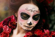 Sugar skull makeup art / romantic, sugar skull makeup