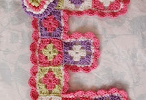 crochet letters/numbers