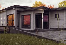 180m² 1-level timber house / Nordic style / AutoCAD / 3ds MAX