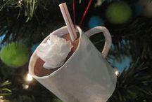 Hot cocoa paper tree ornament