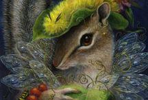 Peintre (Carolyn Schmitz) / Animalier paré de fleurs