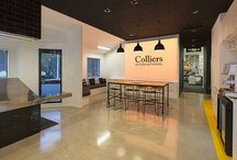 Colliers International / New York City inspired interior by Bubble Interiors for Colliers International, a commercial real estate agency in Tauranga, New Zealand. by Bubble Interiors www.bubbleinteriors.co.nz