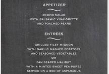 menu / menu design, restaurant branding
