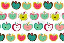 Äpfel - Stoffe / Wir sammeln auch Obst & Gemüse Stoffe, aber die Äpfel zum Nähen sind nochmal besonders.