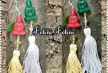 Handmade earrings by Fotini Fotini Mazaraki