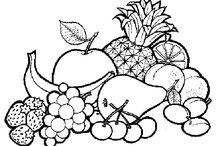 karakalem meyve çizimi