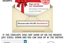NEWSLETTER SIGN UP / Sign up for our newsletter and receive great deals!