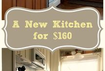 Kitchen and cabinets