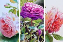 Watercolor Paintings by Doris Joa / Watercolor Paintings in a realistic romantic style.