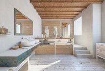 Rustic Bathroom / http://www.dekorolog.com/ahsap-dokunusu-ile-rustik-banyo-dekorasyonu/