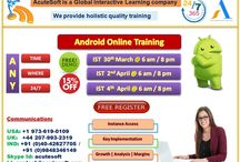 Attend Free Demo!! Android Online training from AcuteSoft Solutions @ IST 30th Mar 6 am & 8 pm.
