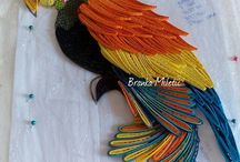 Quilled parrot