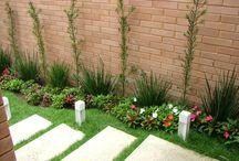 Jardins para área externa