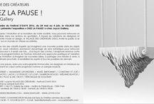 """""""OSEZ LA PAUSE !"""" / VILLAGE DES CREATEURS / D'DAYS 2016 / Dans le cadre du Festival D'DAYS 2016, du 24 mai au 4 juin, le VILLAGE DES CRÉATEURS présente l'exposition « OSEZ LA PAUSE ! » chez Joyce Gallery à Paris."""