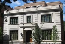 Lincoln Park English Home / Satisfied former clients called upon BGD&C when it was time to build a more spacious home for their growing family. The owners chose a sophisticated, clean-lined Neo-classical style exterior to complement their penchant for Asian furnishings. INTERIOR ARCHITECTURE & DESIGN BY SUZANNE LOVELL INC. Photo by Tony Soluri. bgdchomes.com/