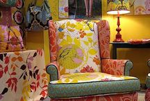 Eclectic / Mixing all fabric patterns and colours to create a unique look.