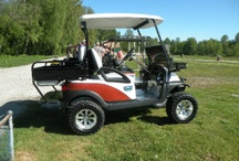 Our Custom Golf Carts / Check out some photos of the custom work we've completed for our customers!