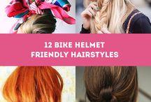 Hair: Bike helmet friendly hair styles