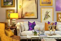 Artful Arrangements / a creative collection of framed art on the wall / by Angela George