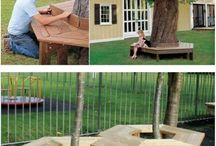 tree bench and home appeal