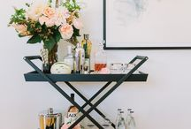 BAR CARTS ARE BACK IN A BIG WAY / https://interiorsonline.com.au/blogs/inspiration/the-bar-cart-is-back-in-a-big-way