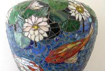 vaso decoração mosaico