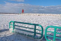 Lake Michigan in Racine Wisconsin 2015
