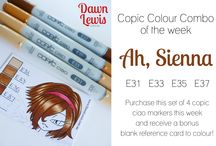 Copic Coloring / Color combos and coloring tutorials.