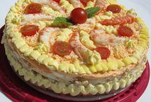 pasteles de verduras y otros