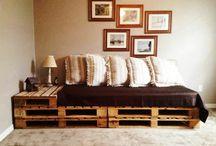 Couch aus Paletten / Couch aus Paletten