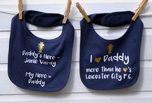 Football Products / Football team baby bibs. Perfect for all the football loving daddies out there!